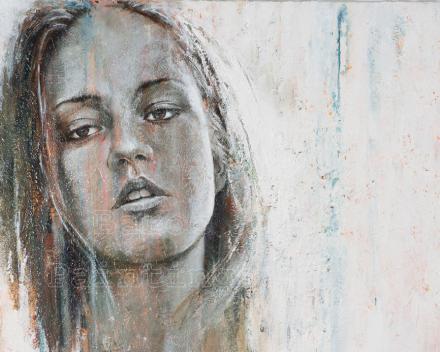 Adèle - 80 x 60 - acryl on canvas - prijs op aanvraag
