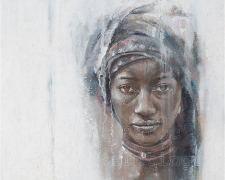 African girl - 80 x 60 - acryl on canvas - private collection