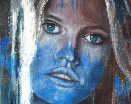 Blue Ivy - 70 x 70 - acryl on canvas - prijs op aanvraag