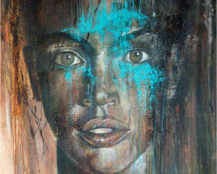 Brown sugar - 90 x 90 - acryl on canvas - private collection