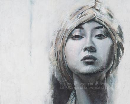 China swan - 80 x 60 - acryl on canvas - prijs op aanvraag