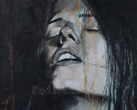 Cleo - 30 x 30 - acryl on canvas - prijs op aanvraag