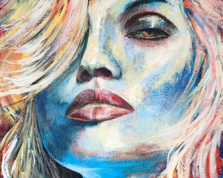 Defiant - 50 x 50 - acryl on canvas - prijs op aanvraag