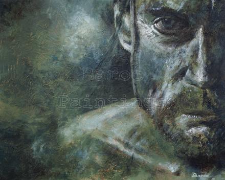 James - 30 x 40 - acryl on canvas - prijs op aanvraag