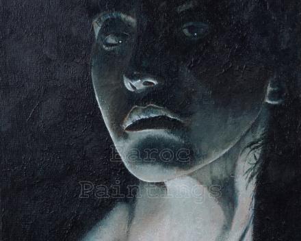 Nefertari - 30 x 30 - acryl on canvas - prijs op aanvraag