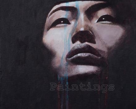 Nefertete - 30 x 30 - acryl on canvas - prijs op aanvraag