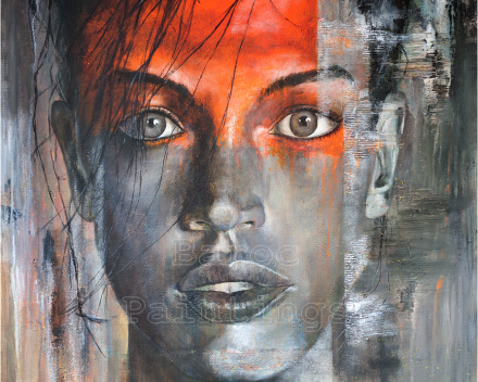 Orange blossom - 90 x 90 - acryl on canvas - private collection