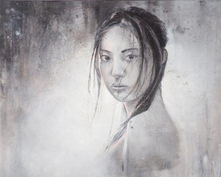 Oriental sunshine -  80 x 80 - acryl on canvas - prijs op aanvraag