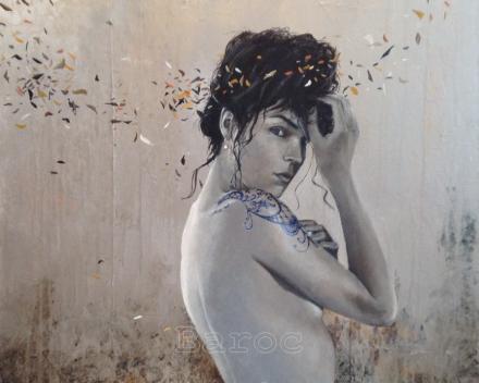 Silver floating - 60 x 60 - acryl op canvas - prijs op aanvraag