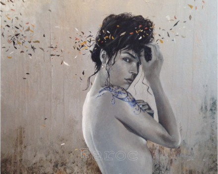 Silver floating - 60 x 60 - acryl on canvas - price on request