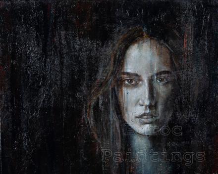 Sisterhood 2 - 50 x 50 - acryl on canvas - prijs op aanvraag