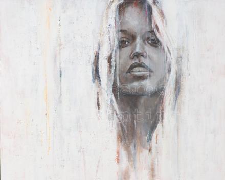 Snow queen 1 - 90 x 90 - acryl on canvas - prijs op aanvraag