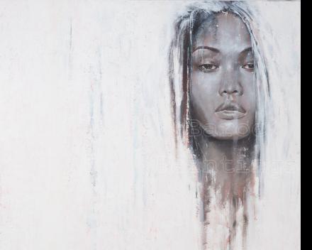 Snow queen 2 - 90 x 90 - acryl on canvas - prijs op aanvraag